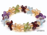 6x8mm Colorful Faceted Crystal Bracelet CFB011