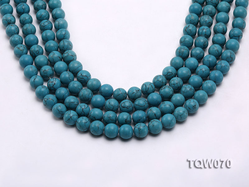 Wholesale 10mm Round Blue Turquoise Beads String big Image 1