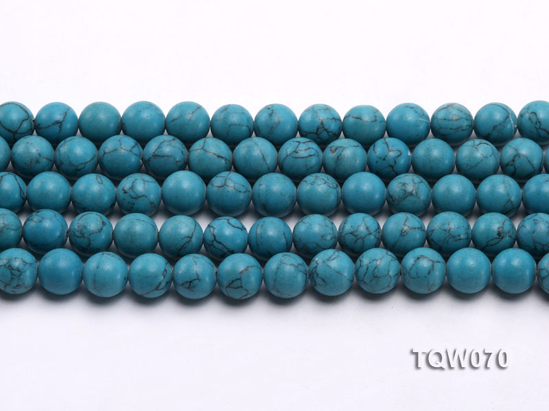 Wholesale 10mm Round Blue Turquoise Beads String big Image 2