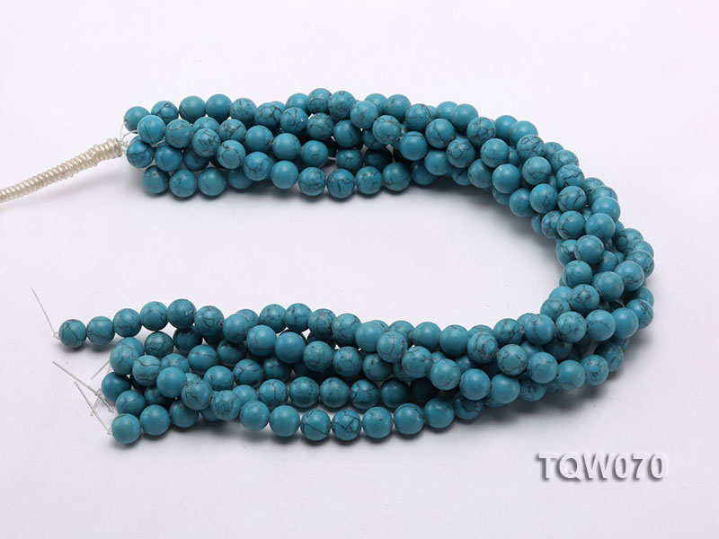 Wholesale 10mm Round Blue Turquoise Beads String big Image 3