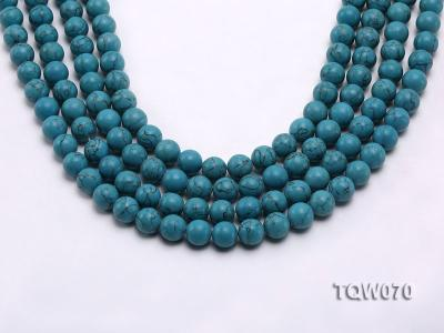 Wholesale 10mm Round Blue Turquoise Beads String TQW070 Image 1