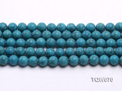 Wholesale 10mm Round Blue Turquoise Beads String TQW070 Image 2