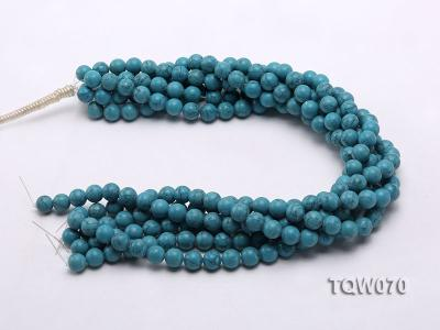 Wholesale 10mm Round Blue Turquoise Beads String TQW070 Image 3