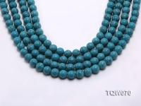 Wholesale 10mm Round Blue Turquoise Beads String TQW070