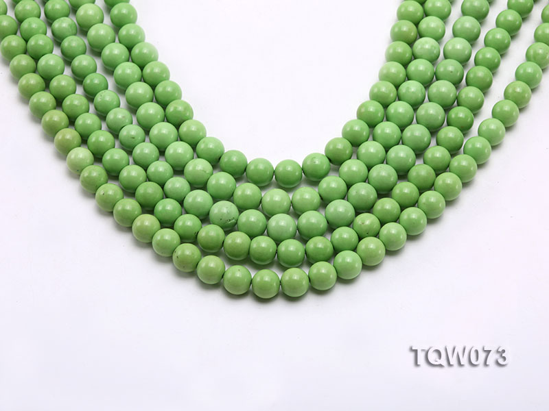 Wholesale 8mm Round Green Turquoise Beads String big Image 1