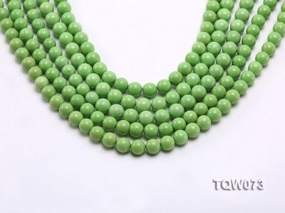 Wholesale 8mm Round Green Turquoise Beads String TQW073 Image 1