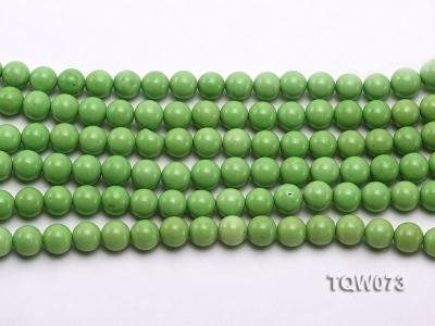 Wholesale 8mm Round Green Turquoise Beads String TQW073 Image 2