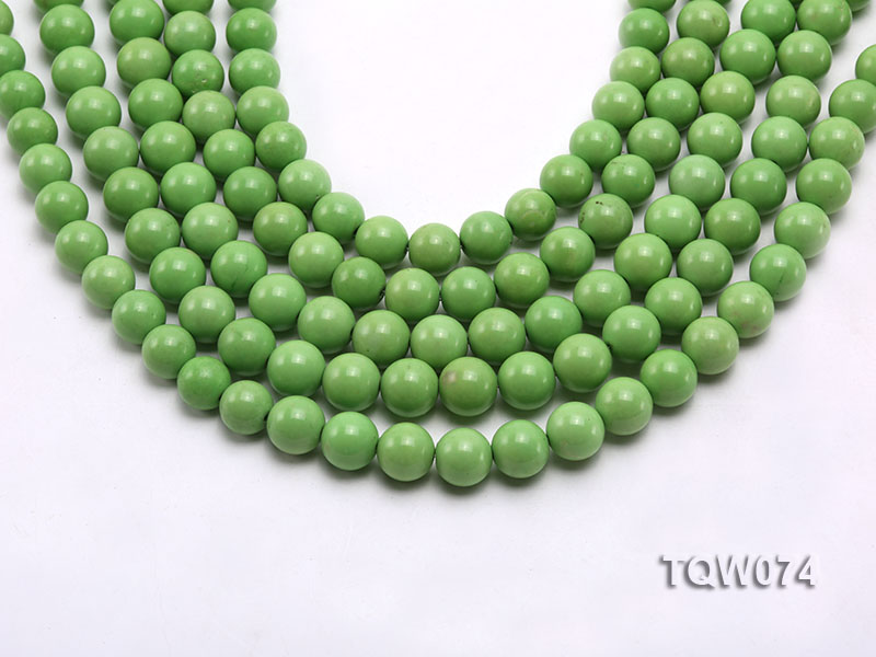 Wholesale 10mm Round Green Turquoise Beads String big Image 1