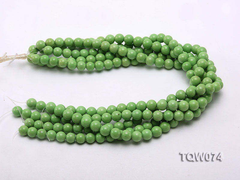 Wholesale 10mm Round Green Turquoise Beads String big Image 3
