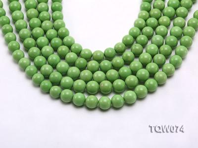 Wholesale 10mm Round Green Turquoise Beads String TQW074 Image 1