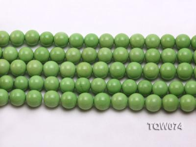 Wholesale 10mm Round Green Turquoise Beads String TQW074 Image 2
