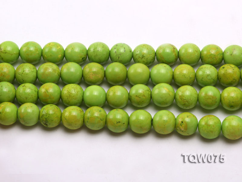 Wholesale 12mm Round Green Turquoise Beads String big Image 2
