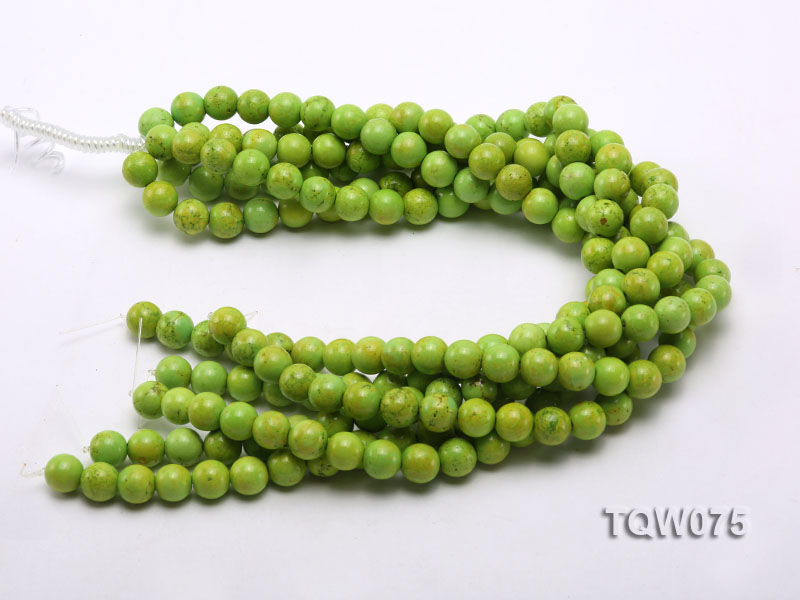 Wholesale 12mm Round Green Turquoise Beads String big Image 3
