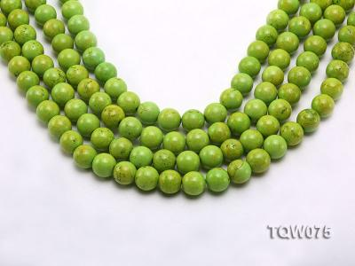 Wholesale 12mm Round Green Turquoise Beads String TQW075 Image 1