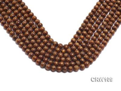Wholesale 8mm Round Golden Coral Beads Loose String CRW109 Image 1