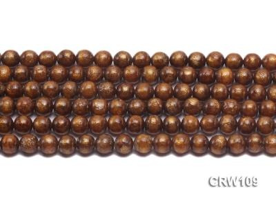 Wholesale 8mm Round Golden Coral Beads Loose String CRW109 Image 2