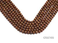 Wholesale 8mm Round Golden Coral Beads Loose String CRW109