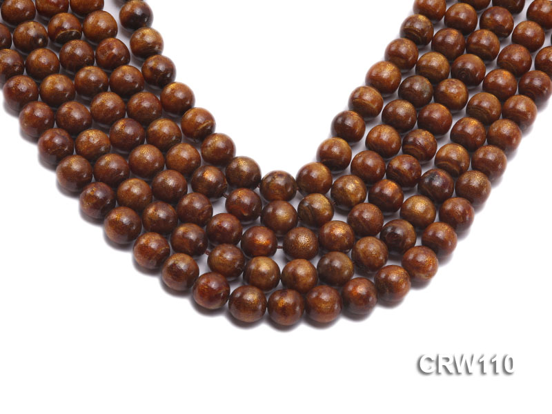 Wholesale 11mm Round Golden Coral Beads Loose String big Image 1