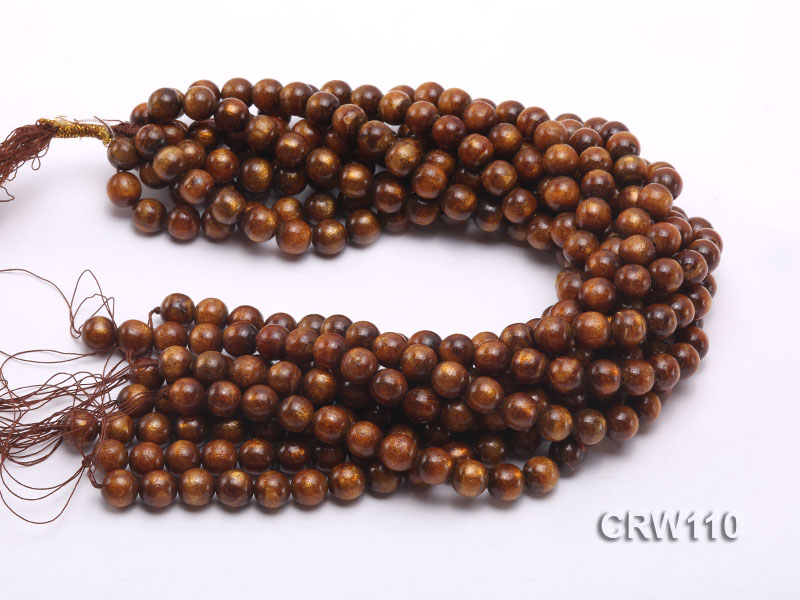 Wholesale 11mm Round Golden Coral Beads Loose String big Image 3