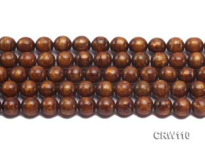 Wholesale 11mm Round Golden Coral Beads Loose String CRW110 Image 2