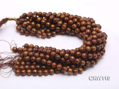 Wholesale 11mm Round Golden Coral Beads Loose String CRW110 Image 3
