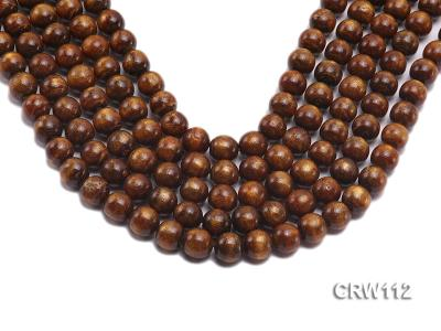 Wholesale 12mm Round Golden Coral Beads Loose String CRW112 Image 1