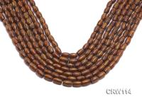 Wholesale 7x10mm Drum-shaped Golden Coral Beads Loose String CRW114