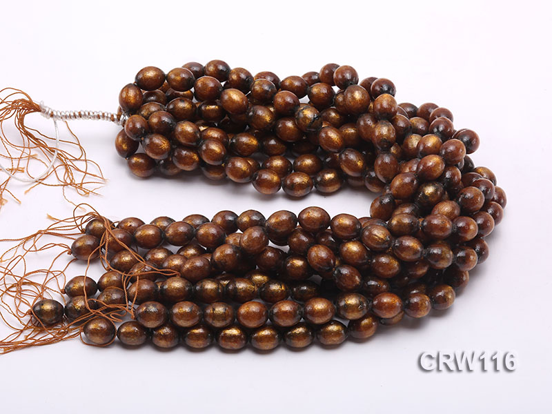 Wholesale 12x15mm Oval Golden Coral Beads Loose String big Image 3
