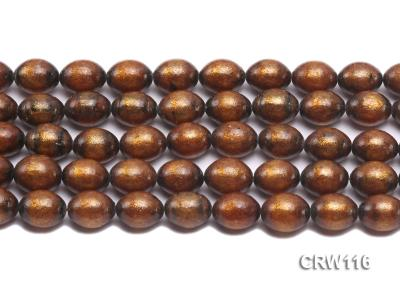 Wholesale 12x15mm Oval Golden Coral Beads Loose String CRW116 Image 2