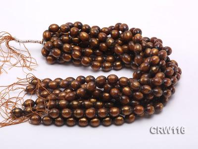 Wholesale 12x15mm Oval Golden Coral Beads Loose String CRW116 Image 3