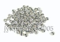 6mm Argent Zircon Beads Inlaid With White and Black Zircon KA005