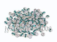 8mm Argent Zircon Beads Inlaid With White and Green Zircon KA008