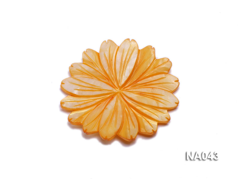 50mmYellow Flower-shaped Shell Jewelry Accessory big Image 1