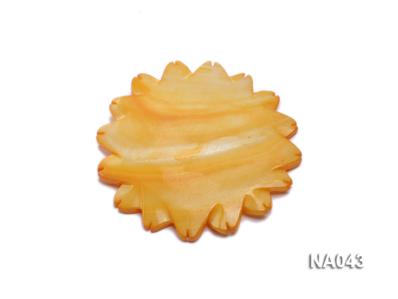 50mmYellow Flower-shaped Shell Jewelry Accessory big Image 2