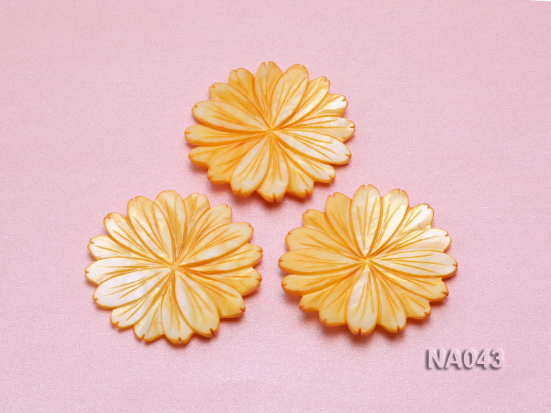 50mmYellow Flower-shaped Shell Jewelry Accessory big Image 3