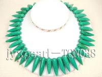 10x40mm green tooth type Turquoise Necklace TQN035