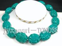 22x27mm green oval Turquoise Necklace TQN038