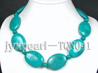 30x40mm green flatly oval Turquoise Necklace TQN041