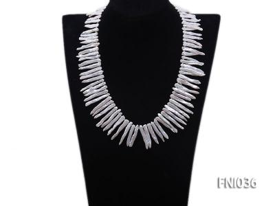 Classic 4x35mm White Stick-shaped Freshwater Pearl Necklace FNI036 Image 7