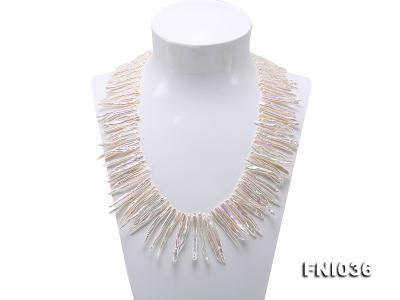 Classic 4x35mm White Stick-shaped Freshwater Pearl Necklace FNI036 Image 1