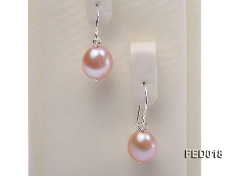 9-10mm Lavender Drop-shaped Cultured Freshwater Pearl Earrings big Image 4