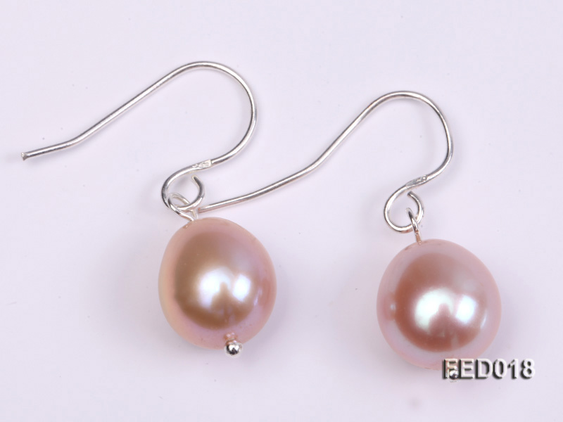 9-10mm Lavender Drop-shaped Cultured Freshwater Pearl Earrings big Image 1