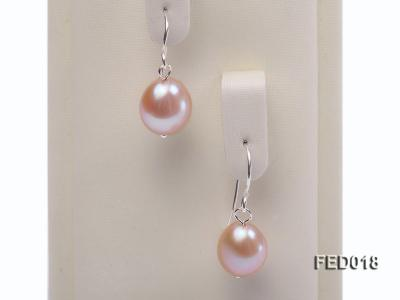 9-10mm Lavender Drop-shaped Cultured Freshwater Pearl Earrings FED018 Image 4