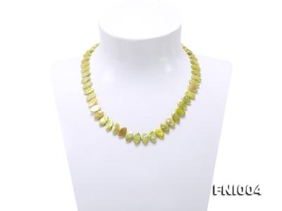 Classic 8x13mm Green Seed-shaped Freshwater Pearl Necklace FNI004 Image 1