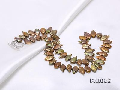 Classic 8x13mm Breen Seed-shaped Freshwater Pearl Necklace FNI005 Image 6