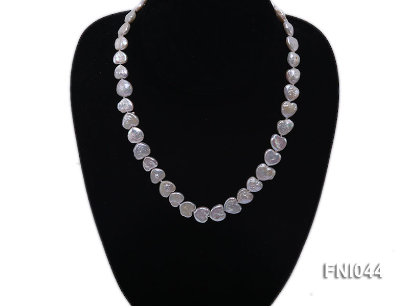 Classic 11mm White Heart-shaped Freshwater Pearl Necklace big Image 5