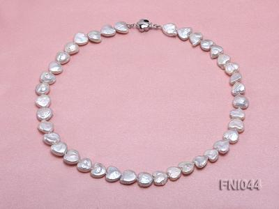 Classic 11mm White Heart-shaped Freshwater Pearl Necklace FNI044 Image 1