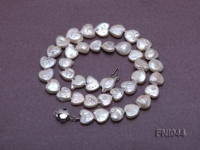 Classic 11mm White Heart-shaped Freshwater Pearl Necklace FNI044 Image 3