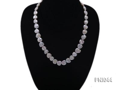 Classic 11mm White Heart-shaped Freshwater Pearl Necklace FNI044 Image 5