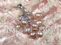 6-7mm Lavender Oval Freshwater Pearl Pendant with a Gilded Pendant Bail FP077
